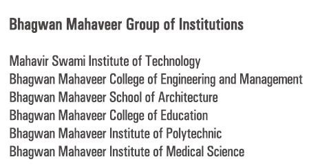 Logo ofBhagwan Mahaveer Group of Institutions